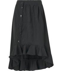 kjol onlvictoria long frill skirt