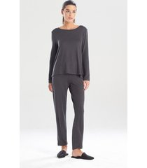natori calm pajamas / sleepwear / loungewear, women's, grey, size l natori