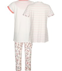 pyjamas blue moon benvit/blush/plommonlila