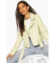 faux snake skin biker jacket, lime