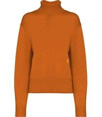 rusted orange cashmere sweater