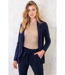 basic blazer marineblauw