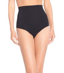 women's commando control top thong, size x-large - black