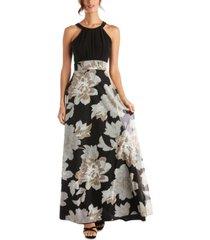 r & m richards floral-print maxi dress