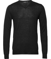 newman v-neck-perfect merino gebreide trui v-hals zwart j. lindeberg