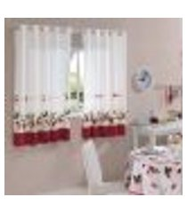 cortina de cozinha athenas estampada modelo olga iolanda dohler