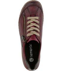 skor med snörning och dragkedja remonte röd