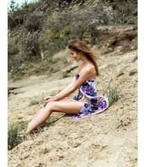 sukienka pareo flowers violet