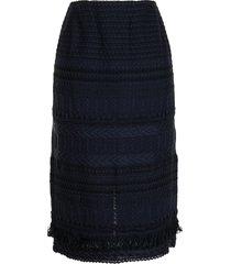 coohem mid-length tweed skirt - blue