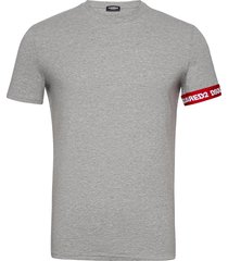 round neck t-shirt t-shirts short-sleeved grijs dsquared2