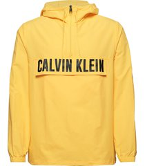 1/2 zip woven jacket outerwear jackets anoraks geel calvin klein performance