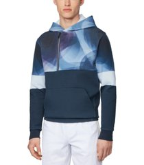 boss men's swave dark blue sweatshirt