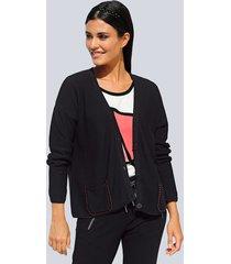 vest alba moda zwart::koraal
