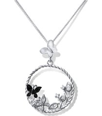 collar mariposas casual plata arany joyas