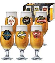 jogo de taças ruvolo royal beer com 6 peças 330ml