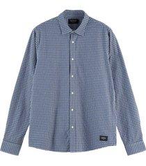 geruit overhemd donkerblauw