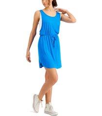 fever sleeveless drawstring colorblocked dress