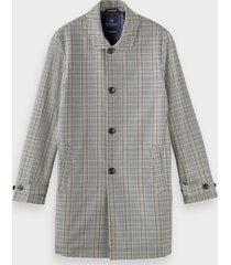 scotch & soda plaid trench coat