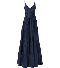 evora tie front maxi dress