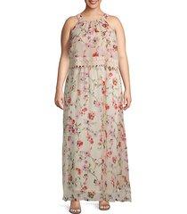 plus bonita oasis blouson dress