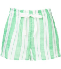lemlem vertical stripes shorts - green