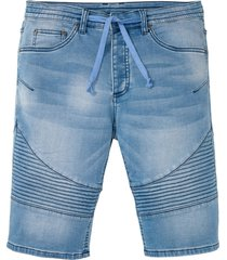 bermuda di jeans in felpa regular fit (blu) - rainbow