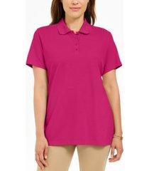 karen scott petite cotton polo shirt, created for macy's