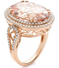 7.85tcw champagne diamond art deco wedding jewelry christmas gift rose gold ring