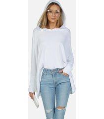 dash core oversized hoodie - white m/l
