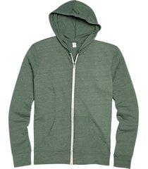 alternative apparel hunter green modern fit full zip eco jersey hoodie