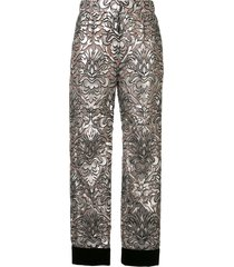 dolce & gabbana mesh-overlay cropped trousers - pink