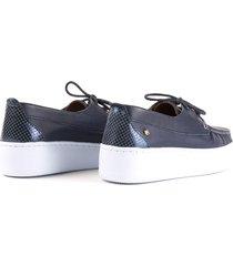 zapato mocasín para mujer cosmos azul -2