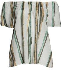 plus size women's caslon petal sleeve top, size 2x - ivory