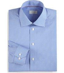 contemporary-fit mini checker dress shirt