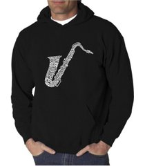 la pop art men's word art hoodie - saxophone