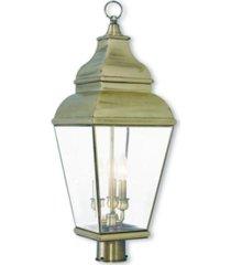 livex exeter 3-light post-top lantern