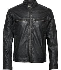 leather jacket läderjacka skinnjacka svart lindbergh