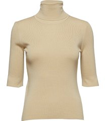 merino elbow sleeve top t-shirts & tops knitted t-shirts/tops beige filippa k