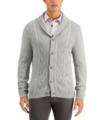tasso elba men's chunky shawl-collar cardigan sweater, created for macy's