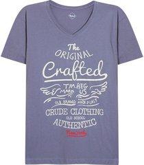 camiseta hombre crafted color gris, talla xl