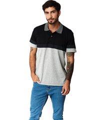 camiseta tipo polo-puntazul-negro-41452