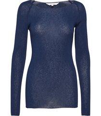 amalie solid t-shirts & tops long-sleeved blauw gai+lisva