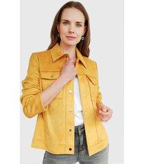 chaqueta ash amarillo - calce ajustado