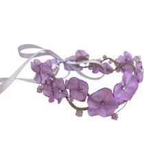 headband fuxicos e frescuras coroa de fada dupla lilás