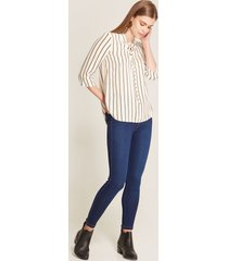 legging tipo jean azul azul 8
