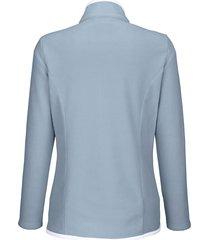 fleecejacka dress in blå::vit