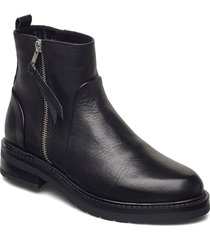heidi wool shoes boots ankle boots ankle boot - flat svart pavement