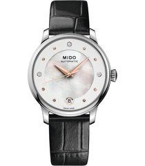 women's mido baroncelli ii automatic diamond bracelet watch
