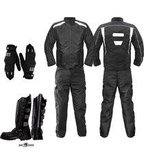 dotacion botas moto pantalon chaqueta moto guantes mensajero