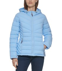 tommy hilfiger stretch packable puffer coat